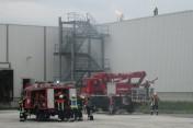 Gemeinsame Übung der Ortsteilfeuerwehren bei Bosch Rexroth in Volkach