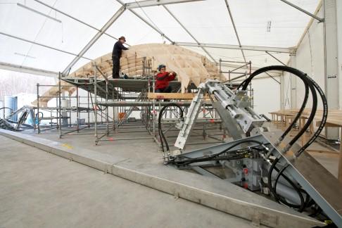 Architektonische Revolution mit hydraulischem Antrieb