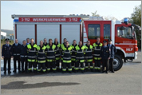 Lohr: Große jährliche Feuerwehrübung: Werkfeuerwehr von Bosch Rexroth hat sich schon warmgelaufen