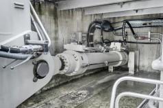 Großer hydraulischer Bodenauslasszylinder