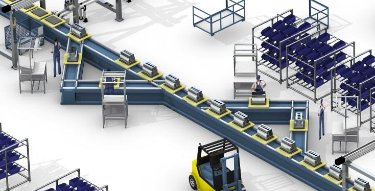Lösungen für die Automobilmotormontage von Rexroth
