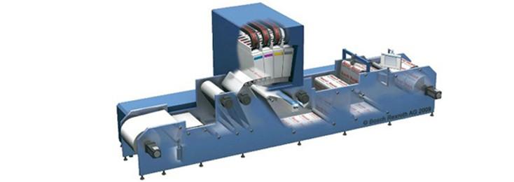 Ein Blick in das Innere einer Digitaldruckmaschine, Bosch Rexroth für Druck und Verarbeitung