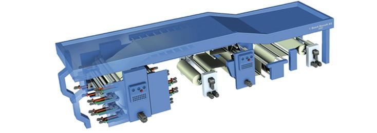 Flexodruckmaschine, Bosch Rexroth für Druck und Verarbeitung