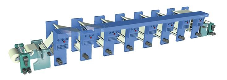 Eine Tiefdruckmaschine von Rexroth