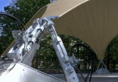 Smart Shell, Stuttgart, Deutschland. Maximale Belastbarkeit bei minimalem Materialverbrauch - das sollten die Tragwerkstrukturen von heute bieten