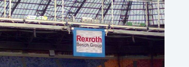 Rexroth Werbung in der Amsterdam ArenA