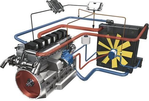 Hydrostatischer Generatorantrieb für Dieselmotor