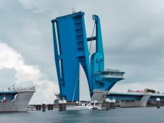 Große hydraulische Brückenzylinder