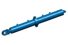 Großer hydraulischer Klappbrückenzylinder