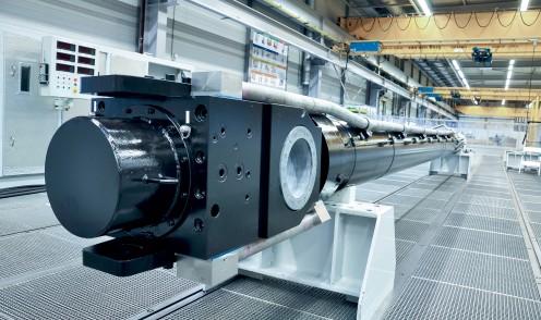 Großer hydraulischer Stahlwasserbauzylinder