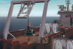 Verlegeschiff für Telekommunikationskabel