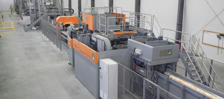 Energieeffiziente Hydrauliklösung für Sägelinie