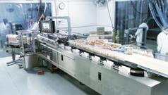 IndraDrive Mi: Hoher Durchsatz bei der Sandwichverpackung