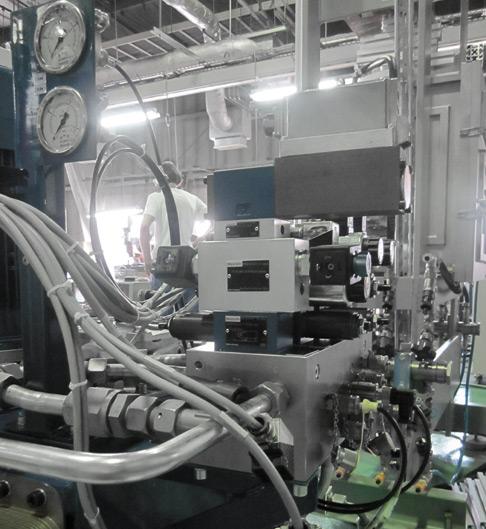 Das Hydrauliksystem von Rexroth sorgt in der Sinteranlage von GeniCore für konstant hohen Druck.