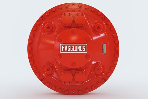 Der Hägglunds Hydraulikmotor von Rexroth hat ein Drehmoment von 80.000 Newtonmetern bei 50 Umdrehungen pro Minute.