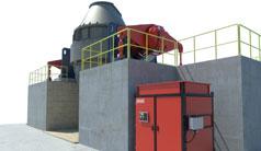 Hydraulikantriebe für das Konverter-Frischeverfahren