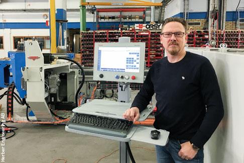 Eine sichere Lösung für mindestens 15 Jahre: Anders Alrutz, Gesellschafter und technischer Direktor bei Herber, ist zufrieden mit dem neuen HMI.