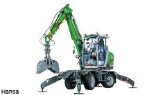 Kommunal- und Friedhofsbagger manövriert mit Rexroth-Hybridhydraulik